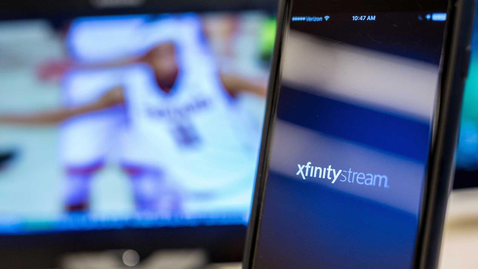Xfinity Stream app on phone screen